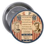 Romney y McKinley Pin Redondo De 3 Pulgadas