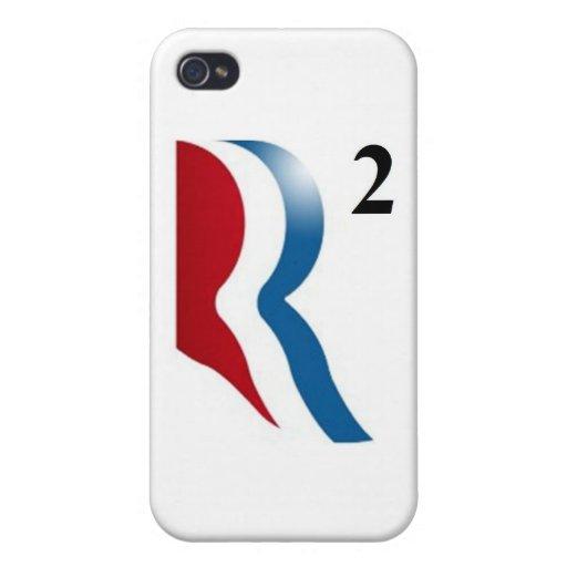 """Romney y Ryan 2012 - """"R ajustados """" iPhone 4 Fundas"""
