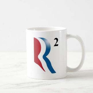 """Romney y Ryan 2012 - """"R ajustados """" Taza Básica Blanca"""