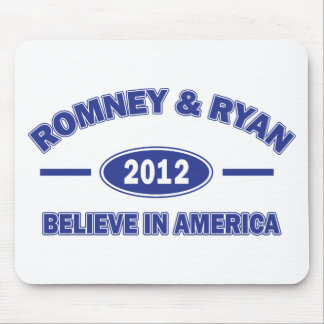 Romney y Ryan 2012 Tapete De Ratones