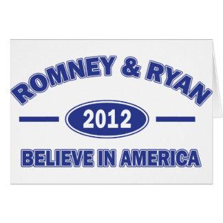 Romney y Ryan 2012 Tarjeta De Felicitación