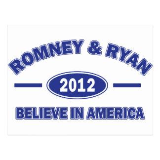 Romney y Ryan 2012 Tarjetas Postales