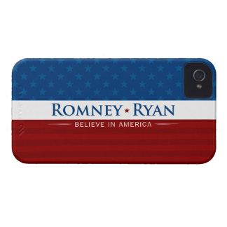 Romney y Ryan creen en el caso de América iPhone 4 Case-Mate Cobertura