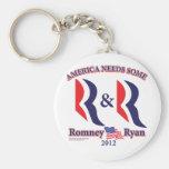 Romney y Ryan Llavero Redondo Tipo Pin