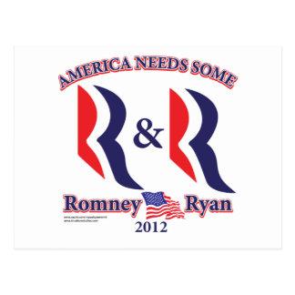 Romney y Ryan Postal