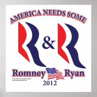Romney y Ryan Póster