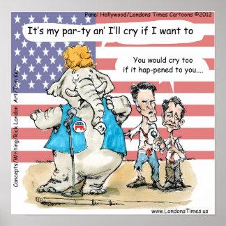 Romney y Ryan su mi poster divertido del fiesta