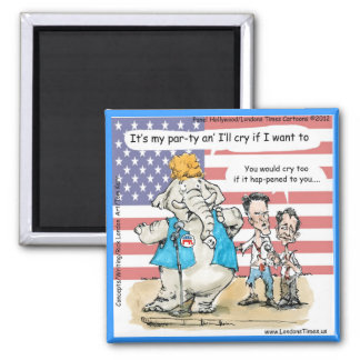 Romney y Ryan sus mis regalos y tarjetas divertido Imán Cuadrado