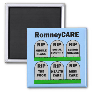 RomneyCARE 2 Inch Square Magnet
