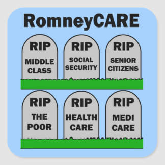 RomneyCARE Pegatina Cuadrada