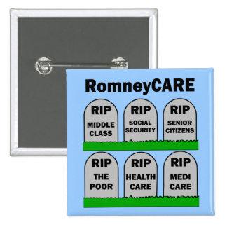 RomneyCARE Pin Cuadrado