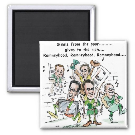 RomneyHood Funny Gifts Mugs Tees Cards Etc. 2 Inch Square Magnet