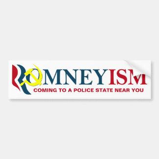 Romneyism/socialismo, pegatina para el parachoques pegatina de parachoque