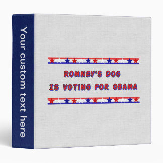 Romney's Dog 3 Ring Binder