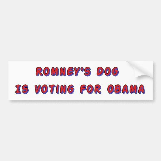 Romney's Dog Bumper Sticker