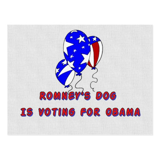 Romney's Dog Post Card
