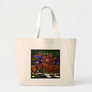 Romney's Irish Setters Funny Gifts Tees Cards Etc Large Tote Bag