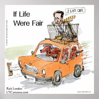 Romney's Irish Setters Funny Rick London Poster Posters
