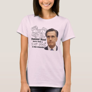 Romney's Silver Foot in Mouth T-Shirt