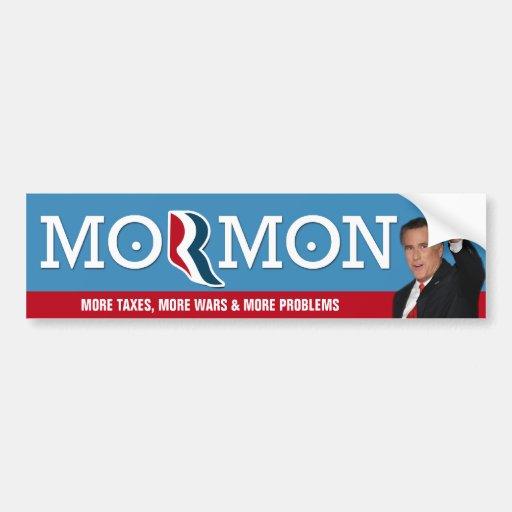 Romoney - More taxes, more war, more problems Car Bumper Sticker