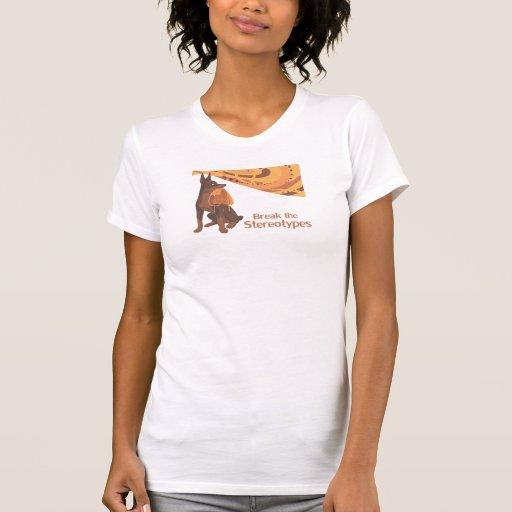 Rompa el estereotipo camisetas