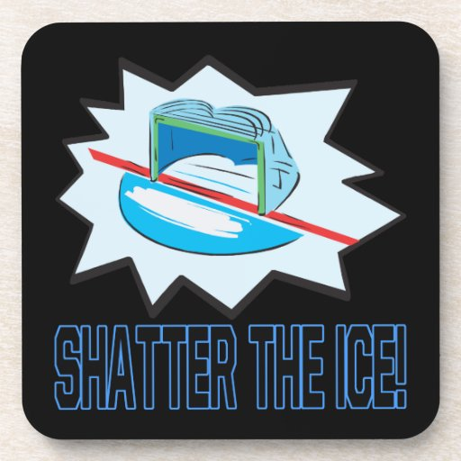 Rompa el hielo posavasos de bebidas