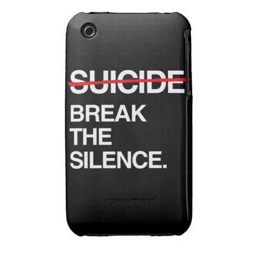 ROMPA EL SILENCIO EN SUICIDIO iPhone 3 CARCASAS