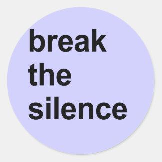 rompa el silencio pegatinas