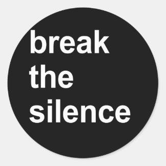 rompa el silencio etiquetas redondas