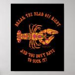Rompa la impresión principal de los cangrejos posters