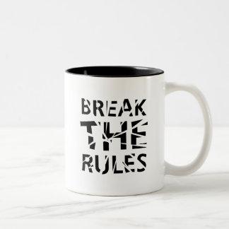 Rompa la taza de las reglas