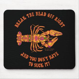 Rompa los cangrejos principales Mousepad