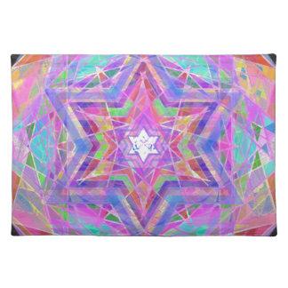 Rompe la estrella cristalina mantel individual