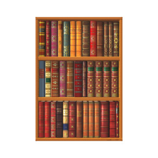 """rompe l'oeil """"French library"""". Canvas Print"""