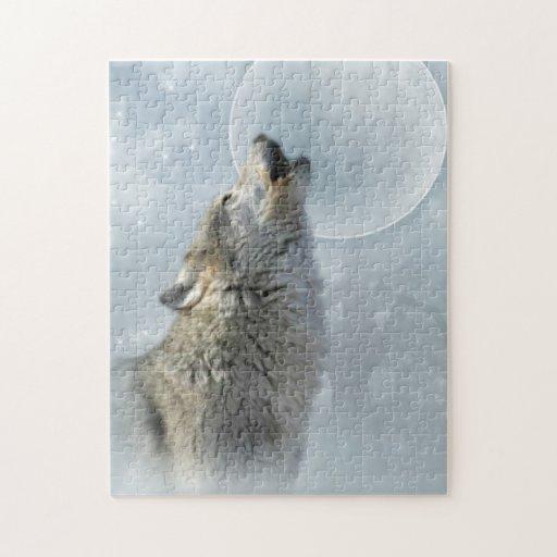 Rompecabezas 10x14 de la luna azul del lobo