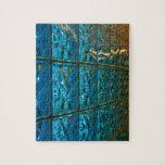 Rompecabezas abstracto azul