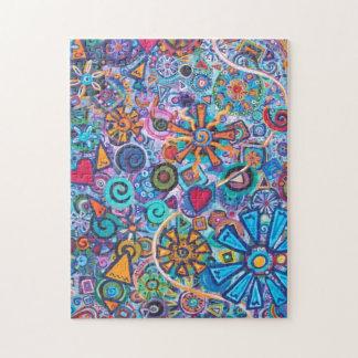 Rompecabezas abstracto feliz de la pintura