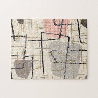 Rompecabezas abstracto moderno de los mediados de