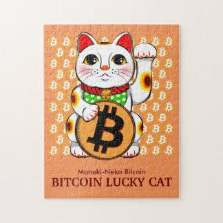 Rompecabezas afortunado 01 del gato de Bitcoin