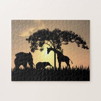 Rompecabezas africano del safari