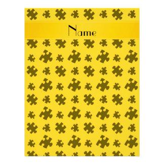 Rompecabezas amarillo conocido personalizado membrete a diseño