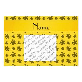 Rompecabezas amarillo conocido personalizado impresion fotografica