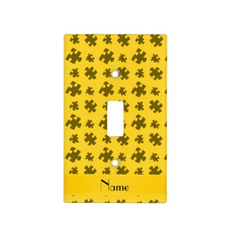 Rompecabezas amarillo conocido personalizado tapa para interruptor