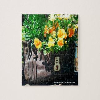 Rompecabezas amarillo de Hangbag de la flor