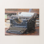 Rompecabezas antiguo de la máquina de escribir