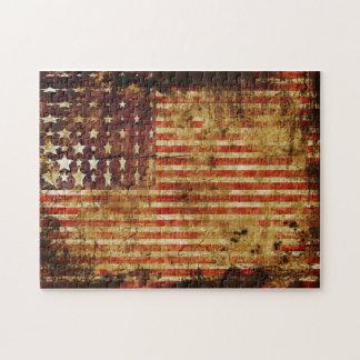 Rompecabezas apenado de la bandera americana