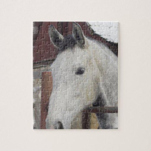 Rompecabezas árabe blanco del caballo