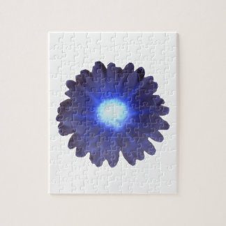 Rompecabezas azul de la maravilla del resplandor