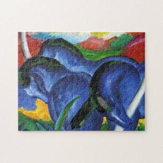 Rompecabezas azul de los caballos de Franz Marc