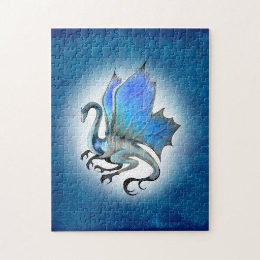Rompecabezas azul del dragón